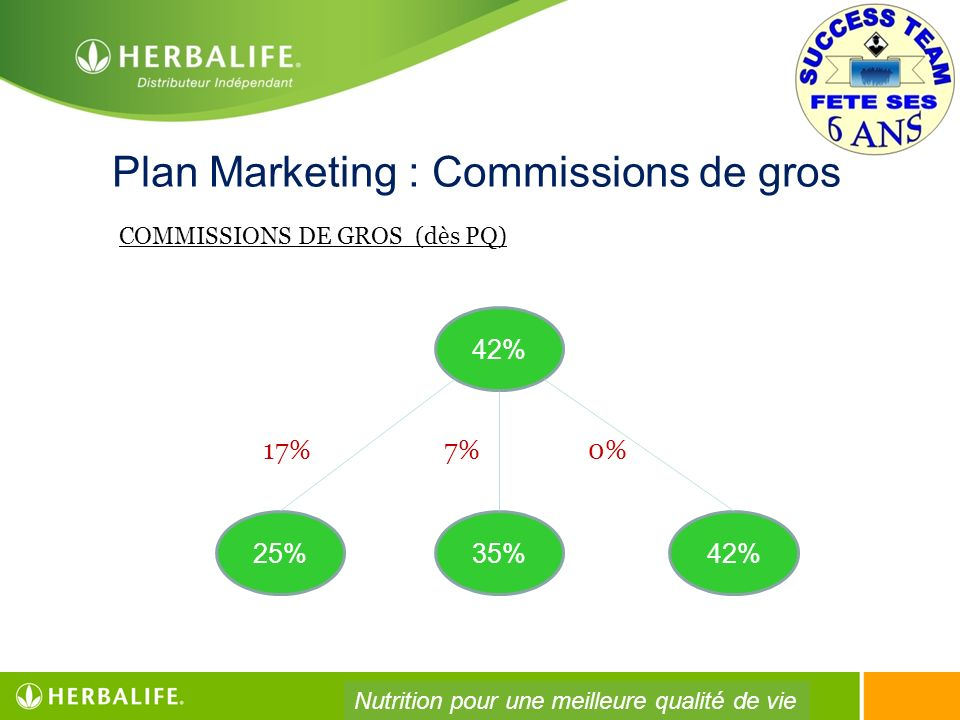 Plan Marketing : Commissions de gros
