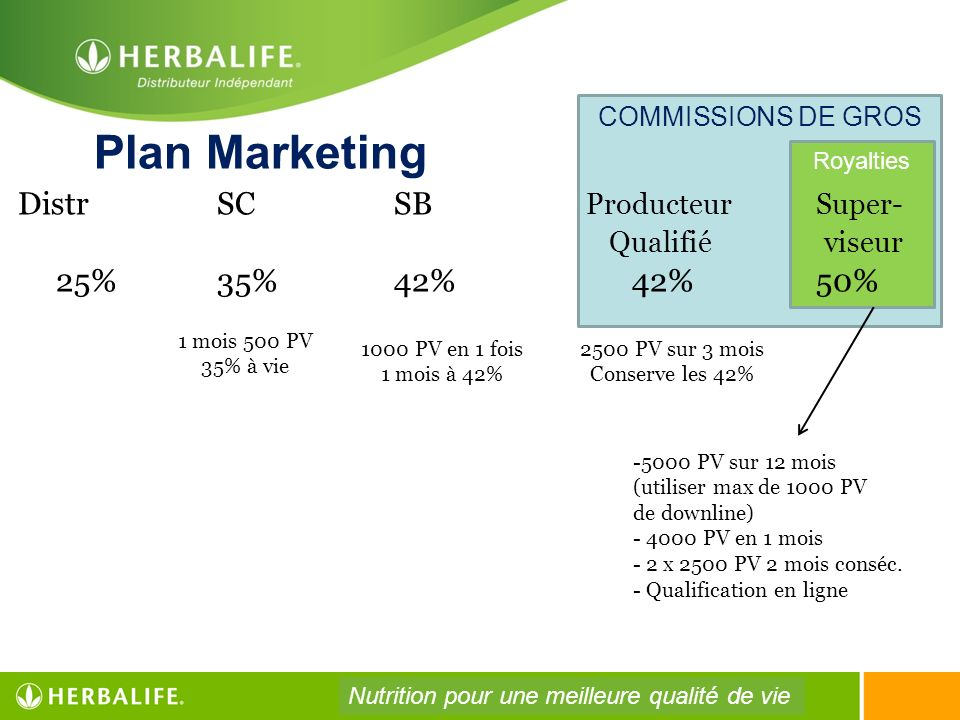 Plan Marketing Distr SC SB Producteur Super- Qualifié viseur
