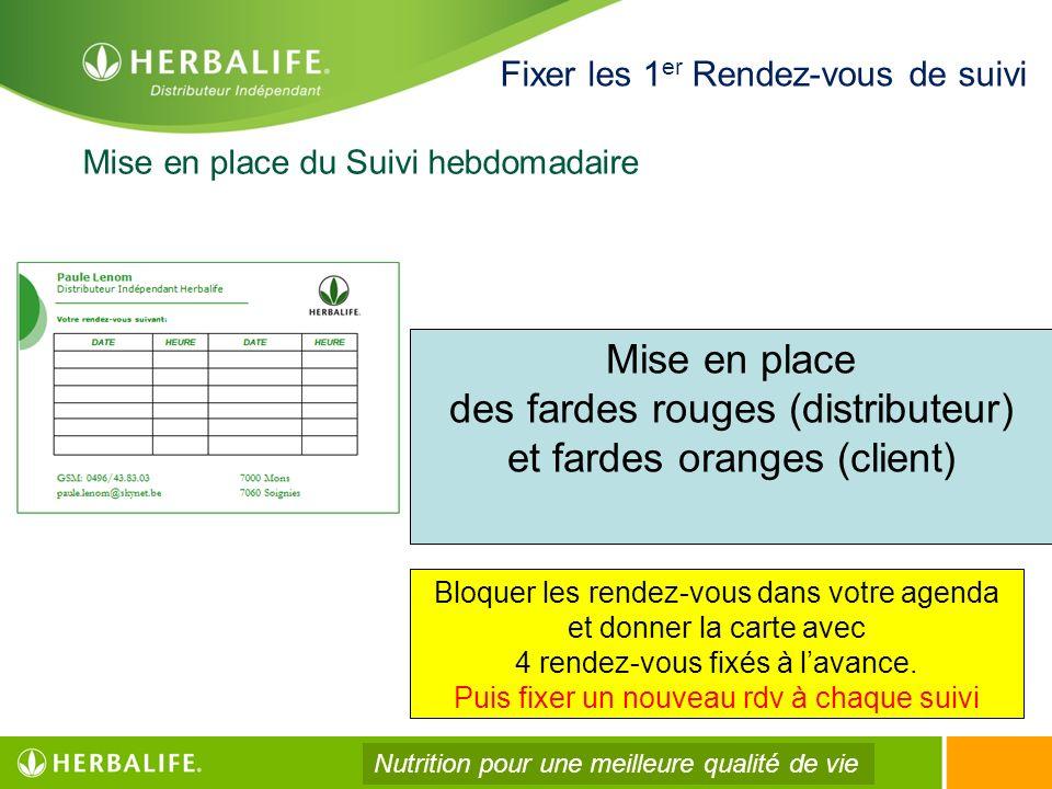 des fardes rouges (distributeur) et fardes oranges (client)