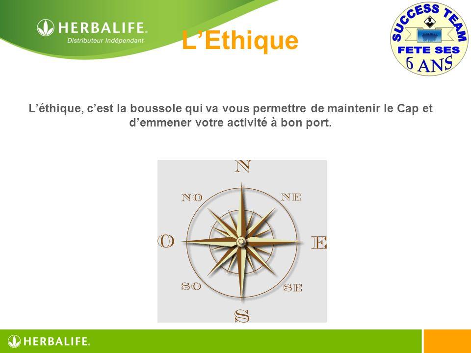 L'Ethique L'éthique, c'est la boussole qui va vous permettre de maintenir le Cap et d'emmener votre activité à bon port.
