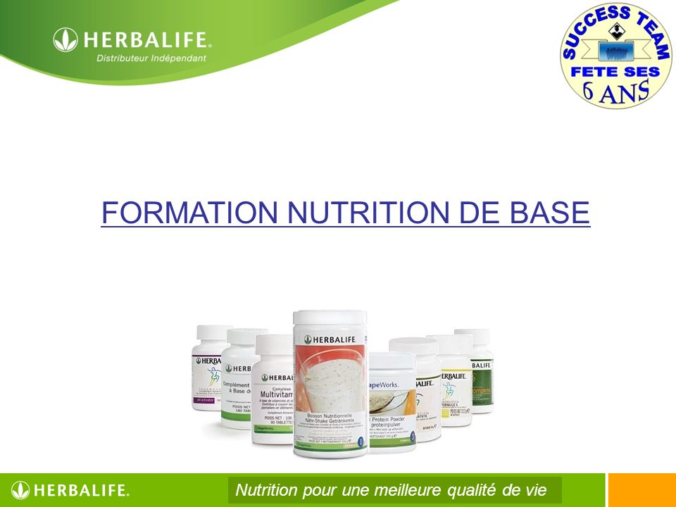 FORMATION NUTRITION DE BASE