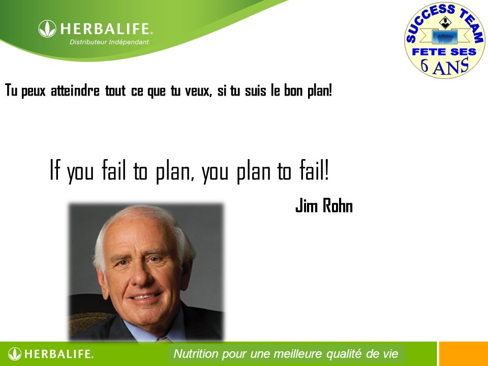 If you fail to plan, you plan to fail! Jim Rohn