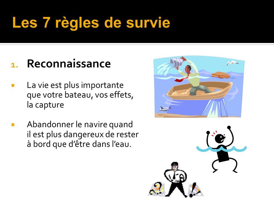 Les 7 règles de survie Reconnaissance