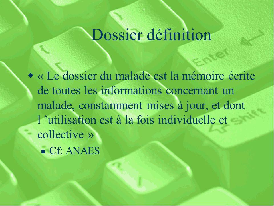 Dossier définition