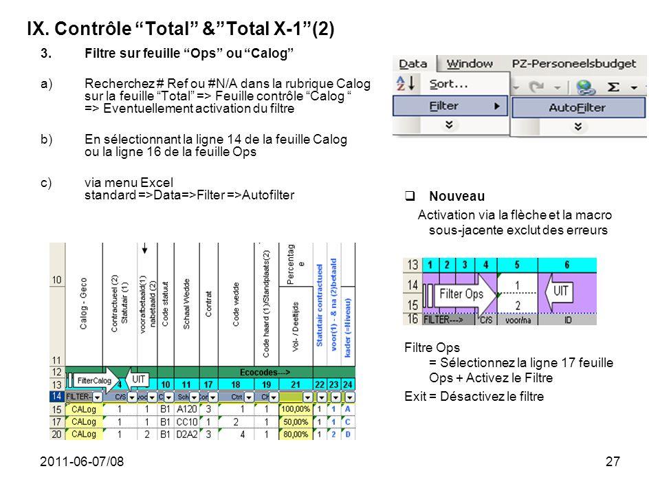 IX. Contrôle Total & Total X-1 (2)