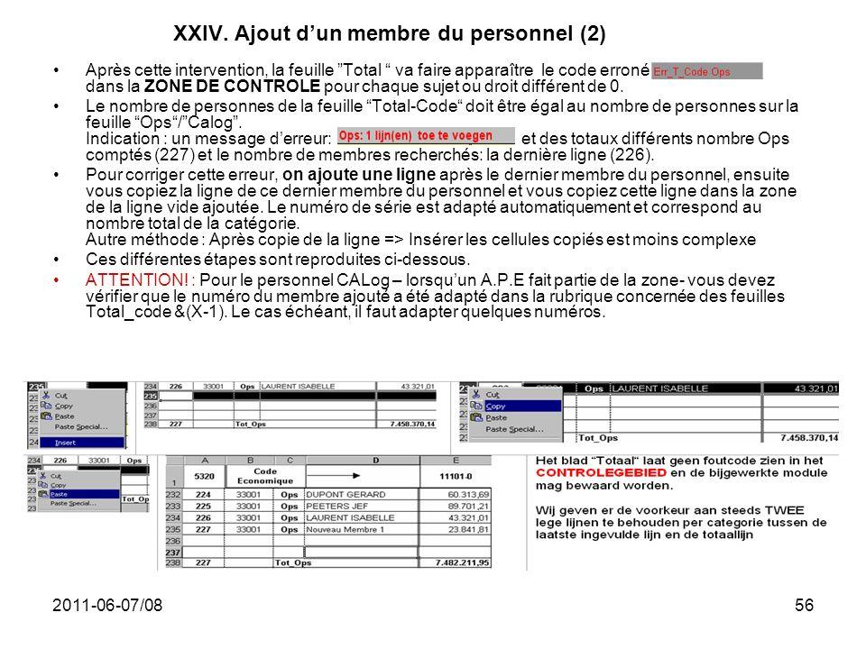 XXIV. Ajout d'un membre du personnel (2)