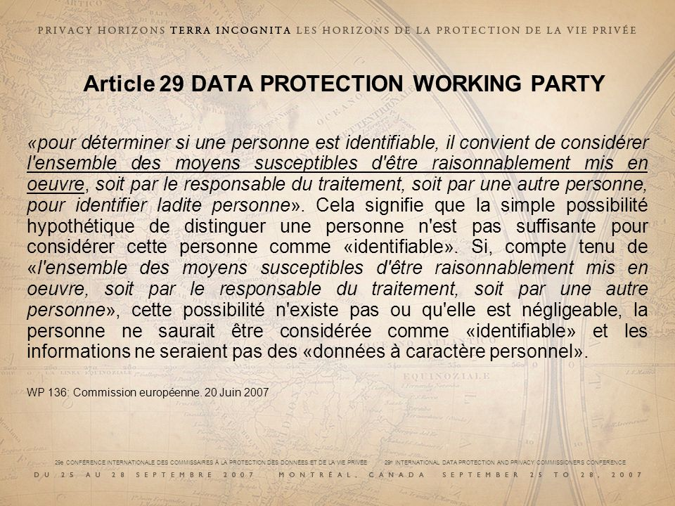 Article 29 DATA PROTECTION WORKING PARTY
