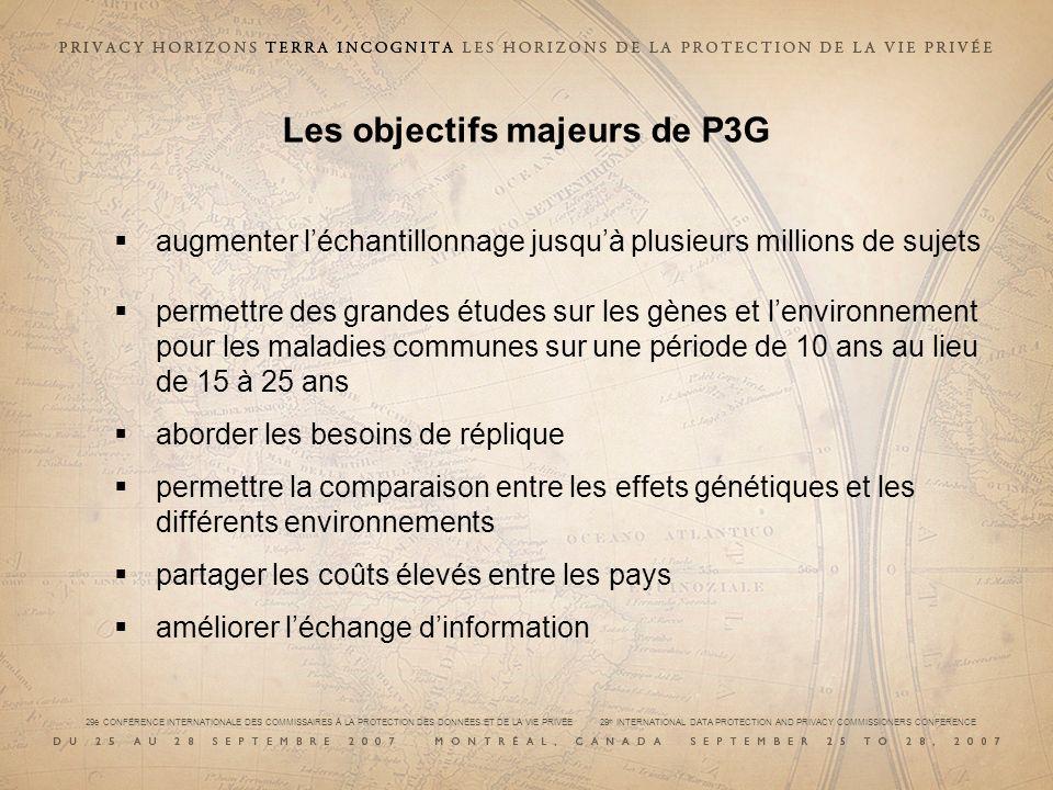 Les objectifs majeurs de P3G