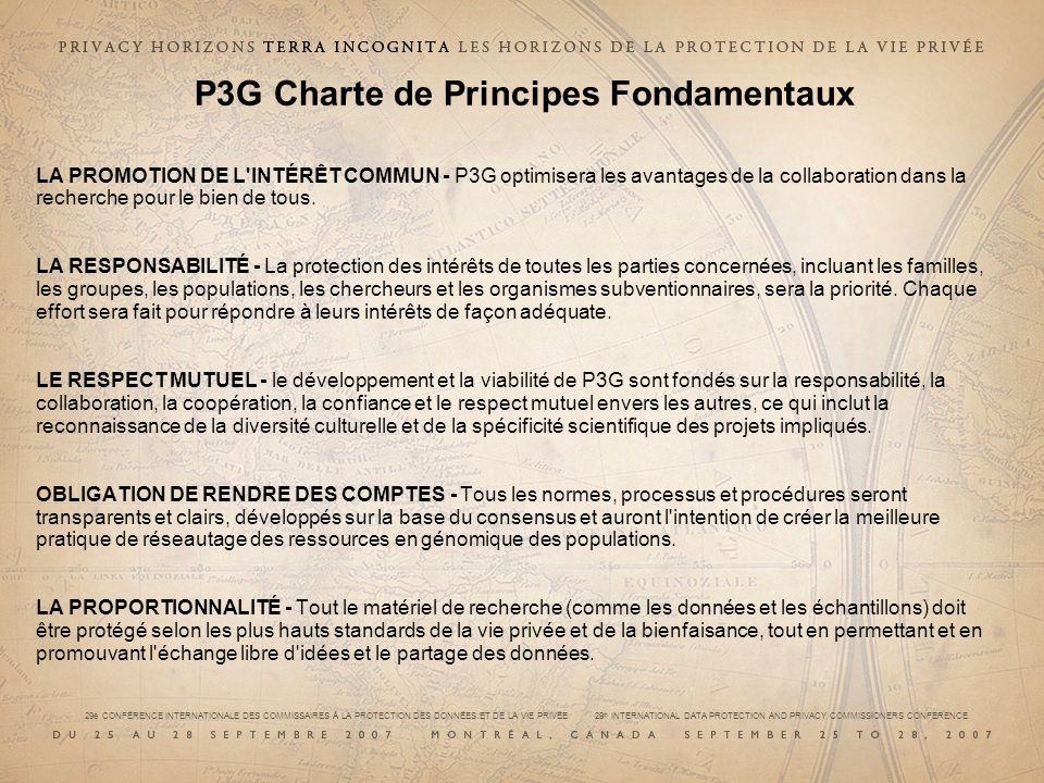 P3G Charte de Principes Fondamentaux
