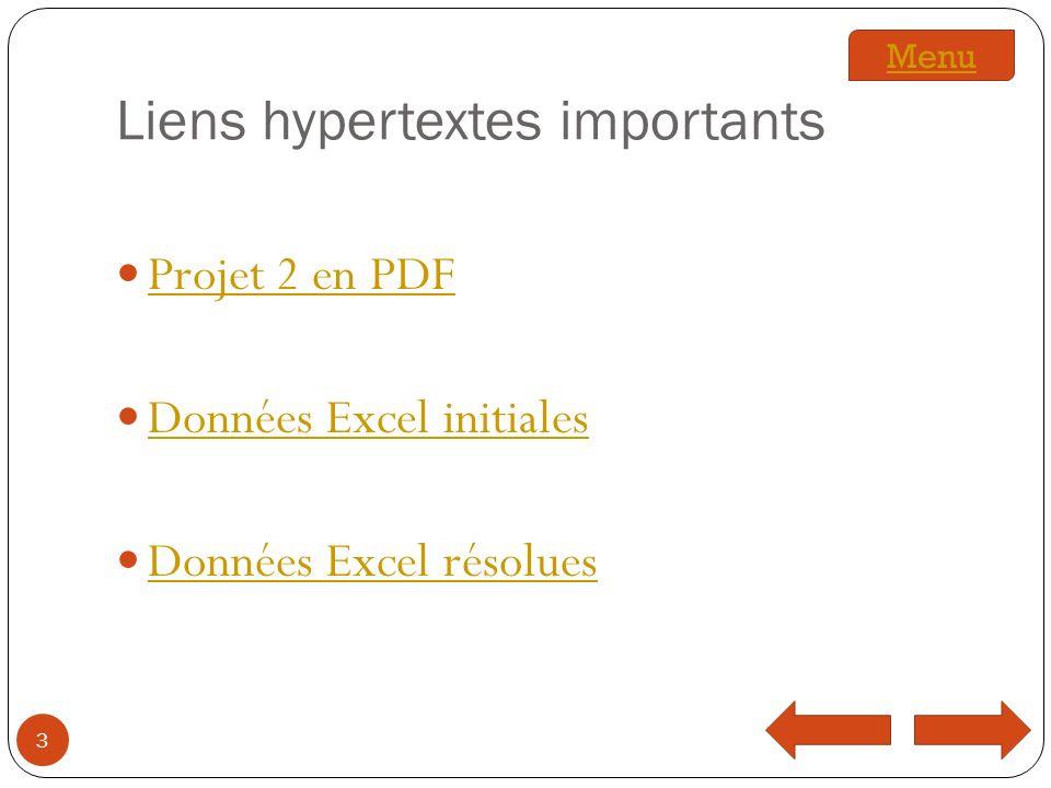 Liens hypertextes importants
