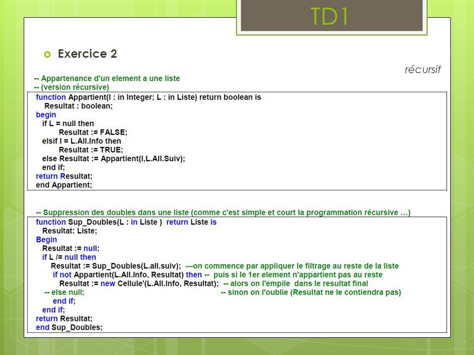 TD1 Exercice 2 récursif