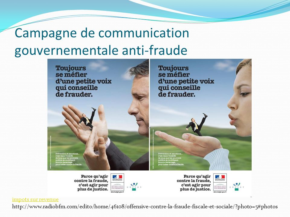 Campagne de communication gouvernementale anti-fraude