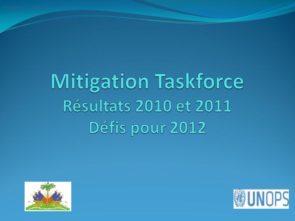 Mitigation Taskforce Résultats 2010 et 2011 Défis pour 2012