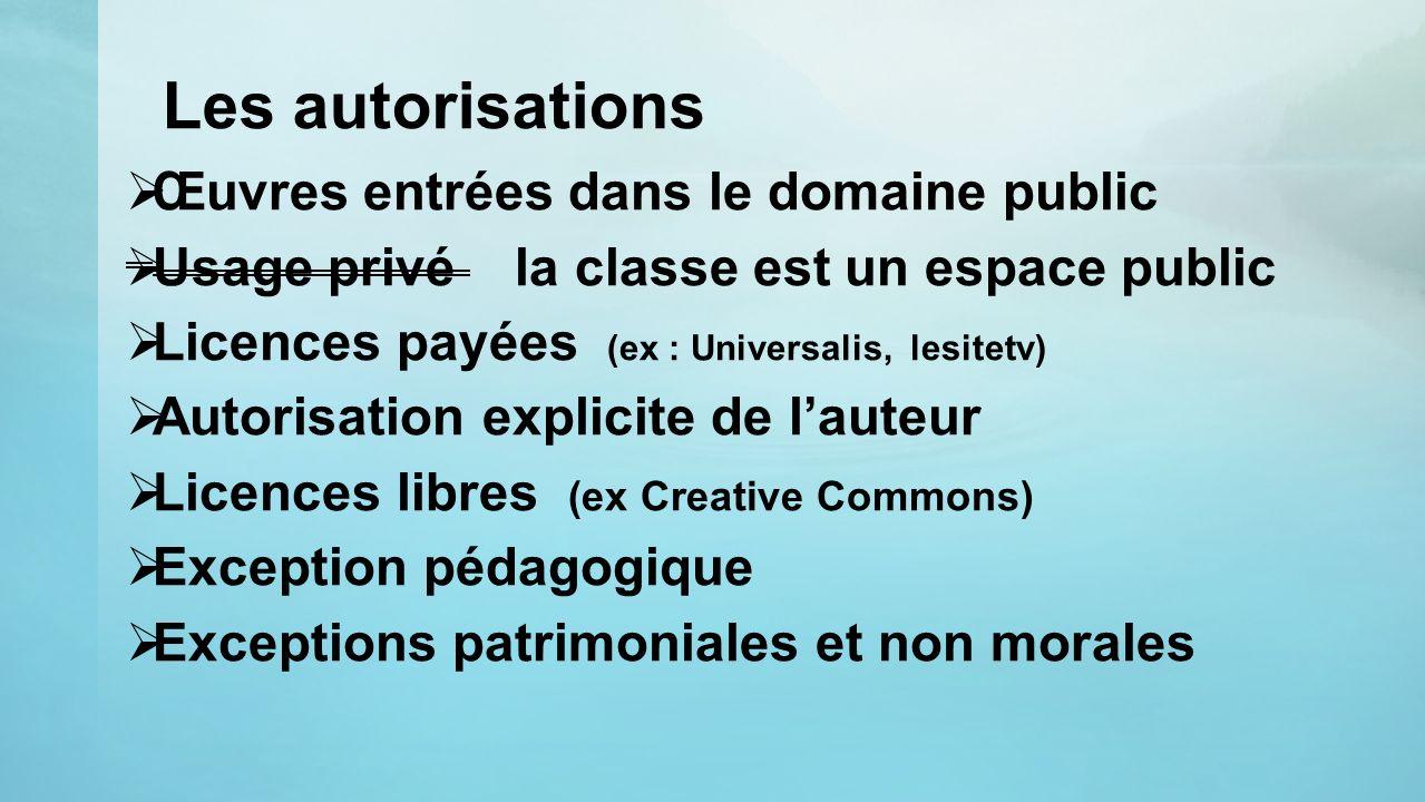 Les autorisations Œuvres entrées dans le domaine public