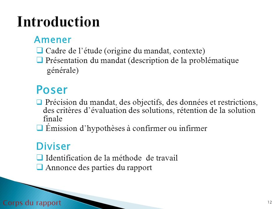 Introduction Poser Diviser Amener