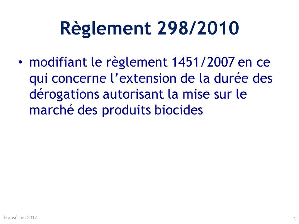Règlement 298/2010