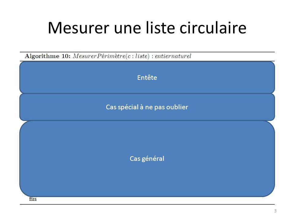 Mesurer une liste circulaire