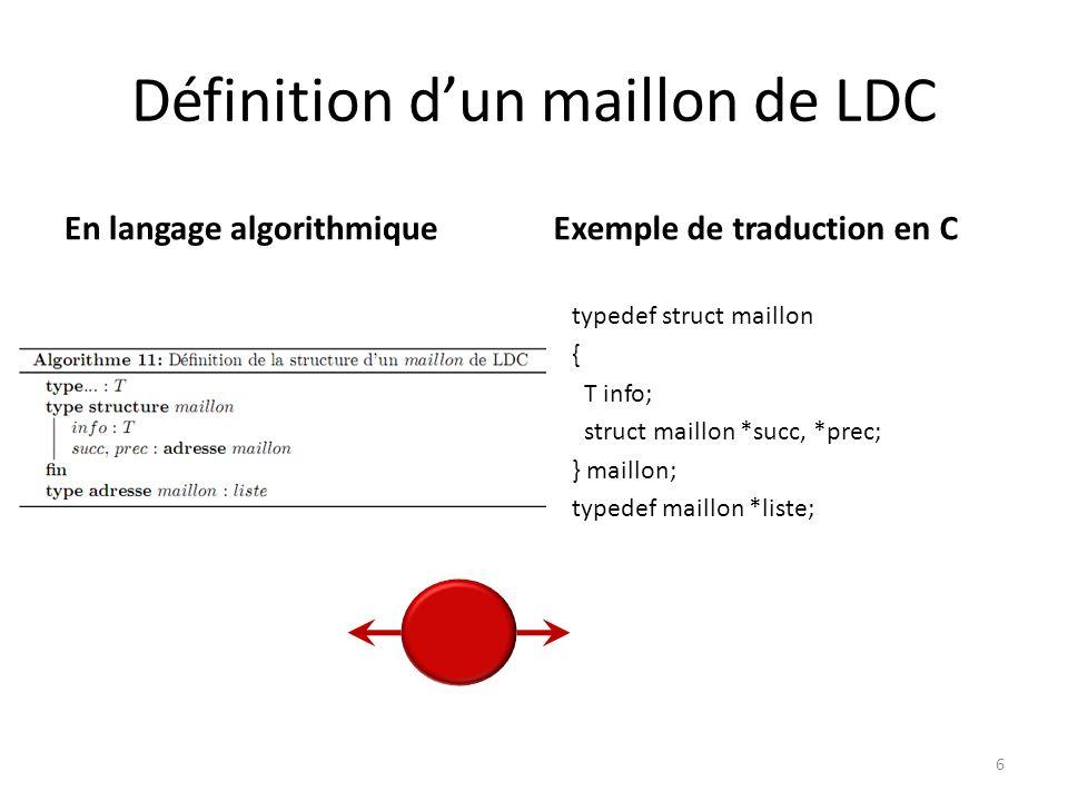 Définition d'un maillon de LDC