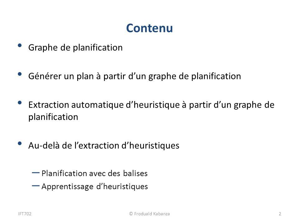 Contenu Graphe de planification