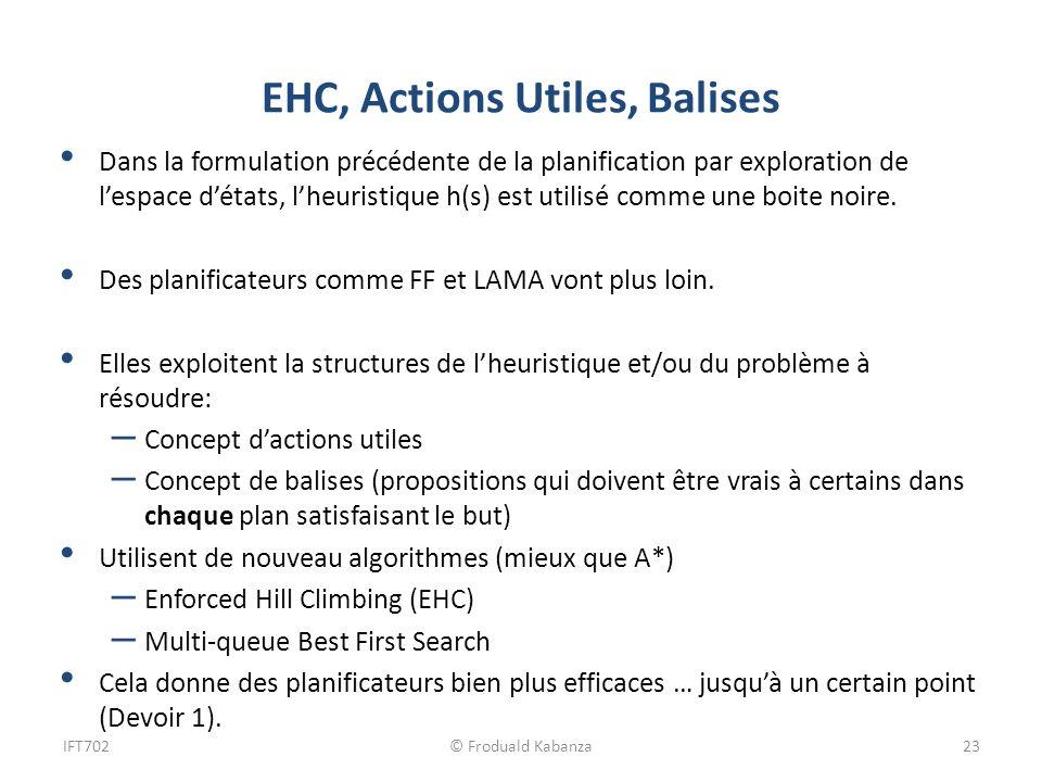 EHC, Actions Utiles, Balises