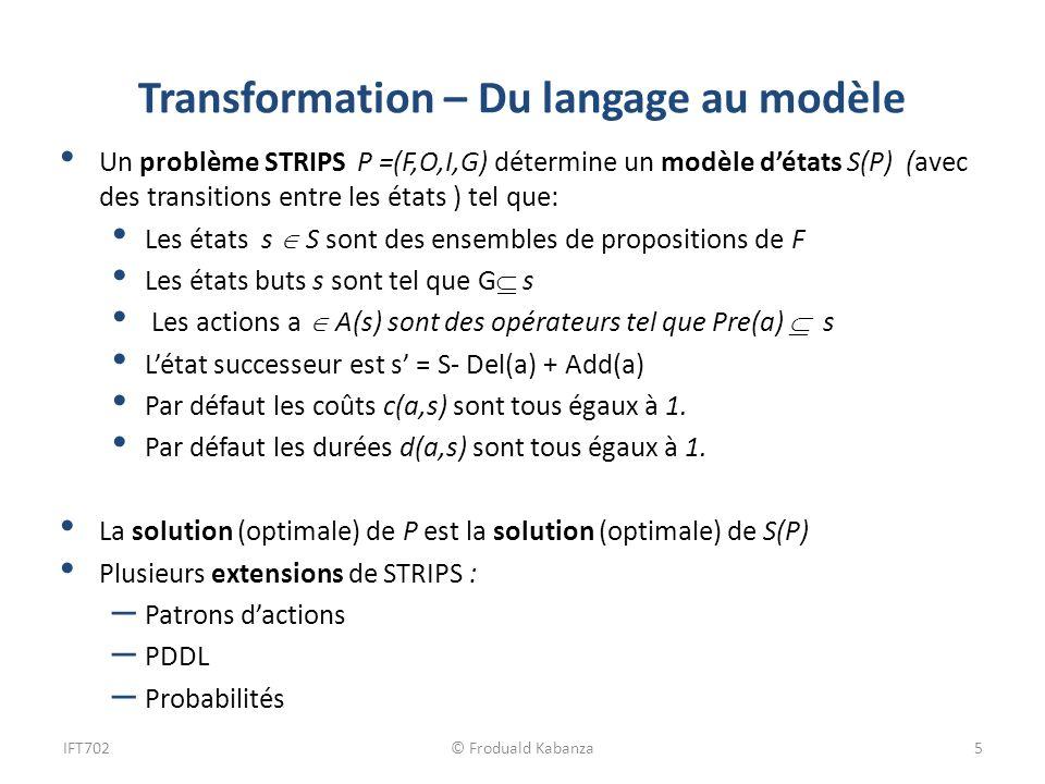 Transformation – Du langage au modèle