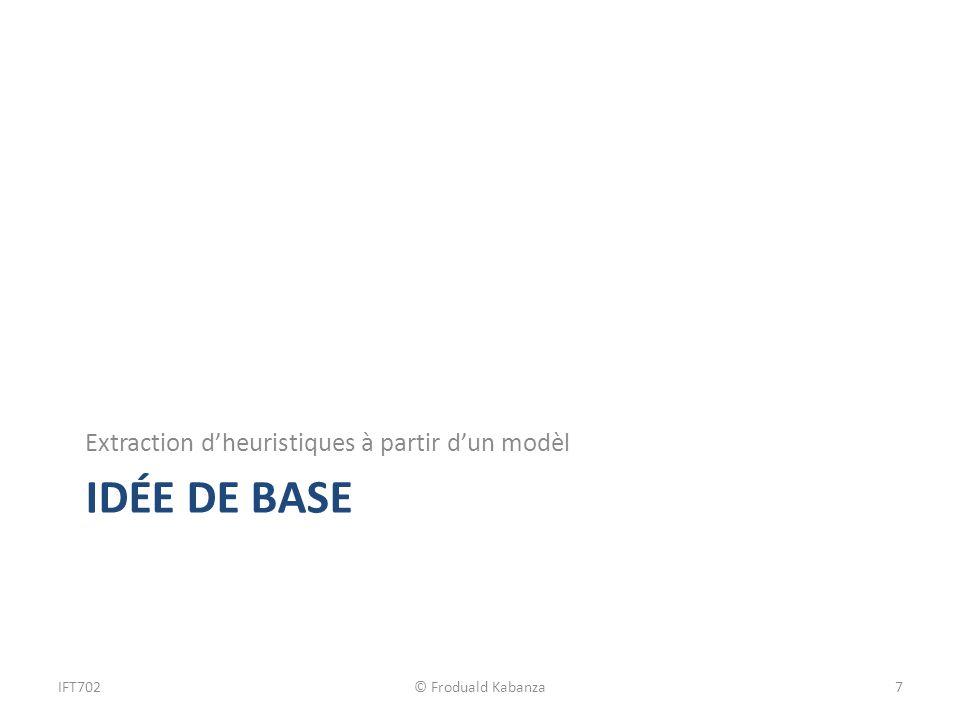 IDÉE de Base Extraction d'heuristiques à partir d'un modèl IFT702