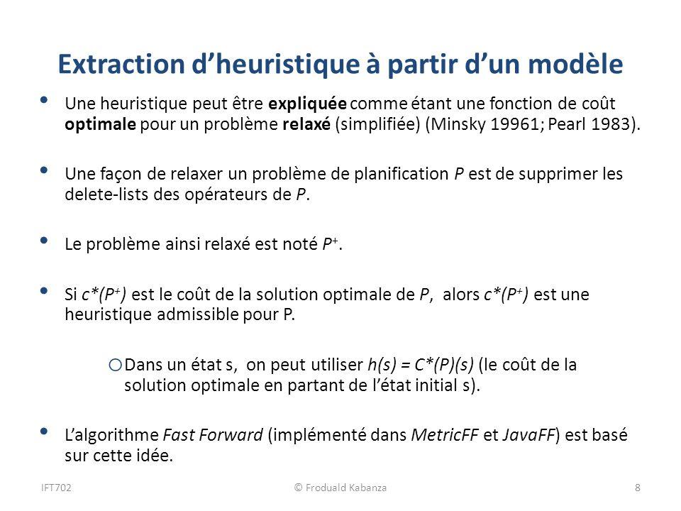 Extraction d'heuristique à partir d'un modèle
