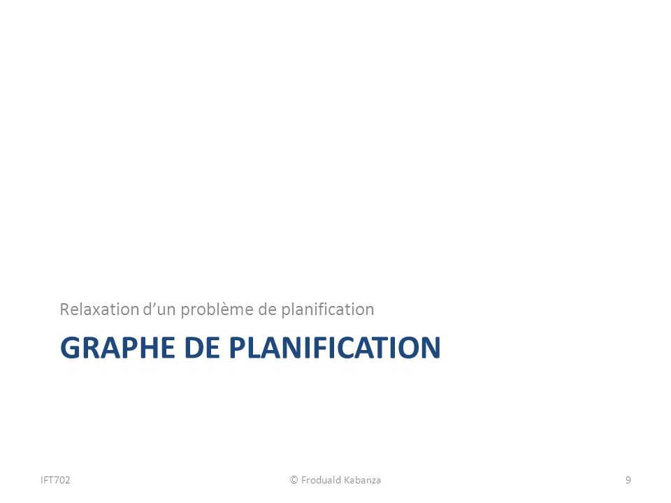 Graphe de planification
