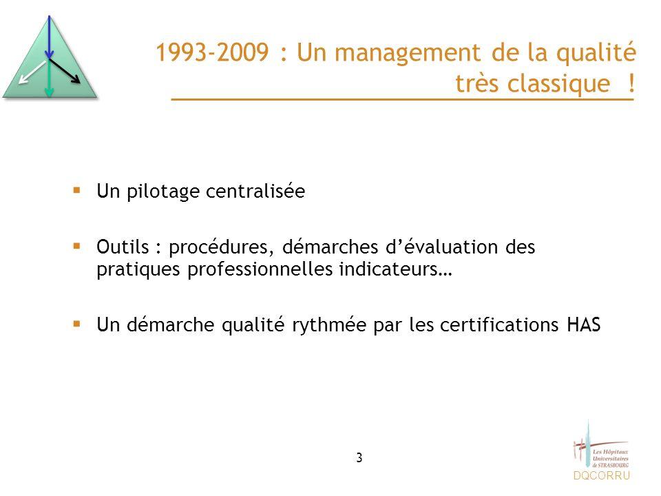 1993-2009 : Un management de la qualité très classique !