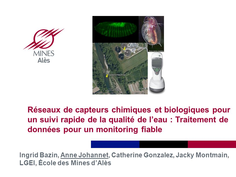 Réseaux de capteurs chimiques et biologiques pour un suivi rapide de la qualité de l'eau : Traitement de données pour un monitoring fiable