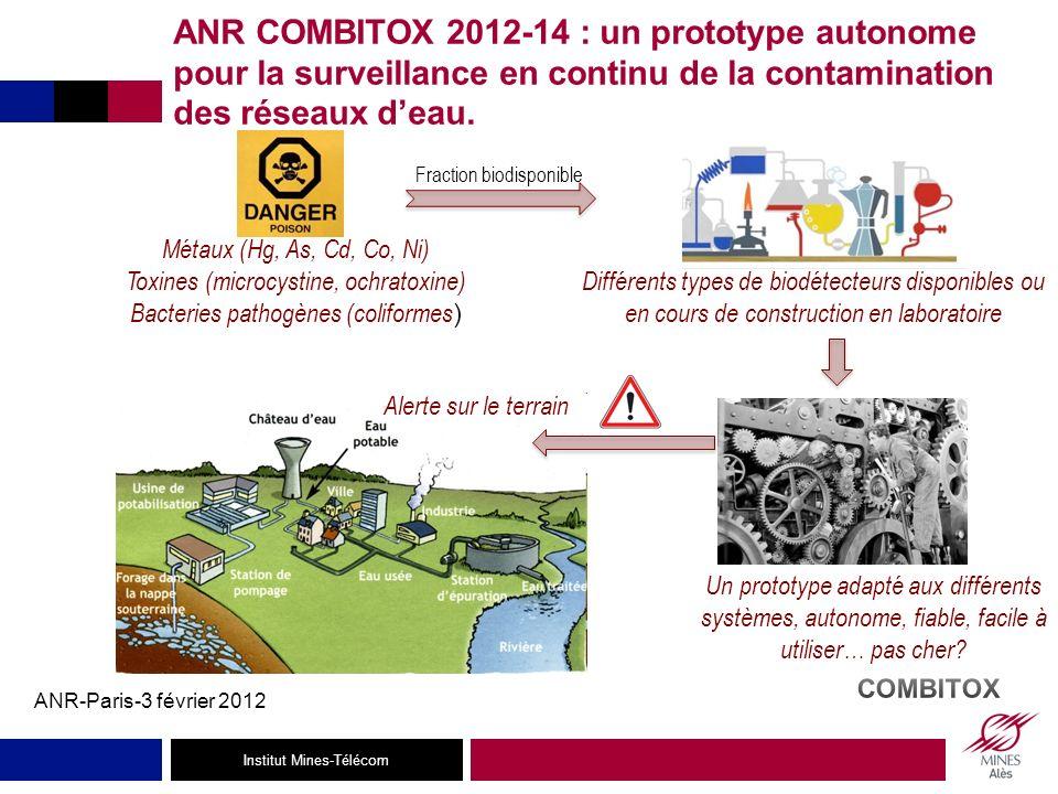 ANR COMBITOX 2012-14 : un prototype autonome pour la surveillance en continu de la contamination des réseaux d'eau.