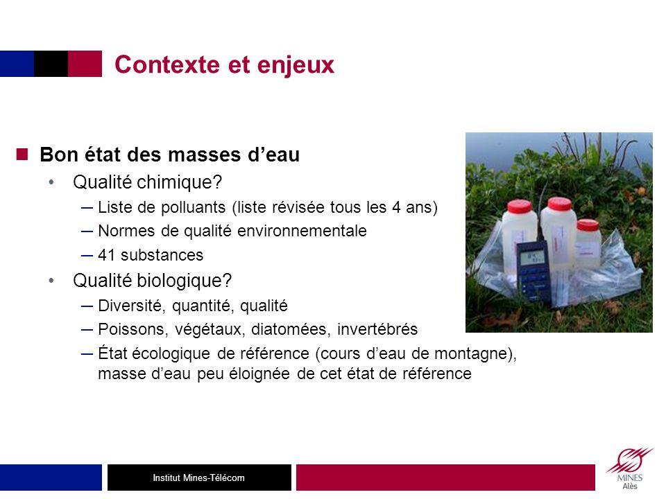 Contexte et enjeux Bon état des masses d'eau Qualité chimique