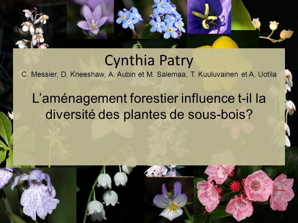 Cynthia Patry C. Messier, D. Kneeshaw, A. Aubin et M. Salemaa, T
