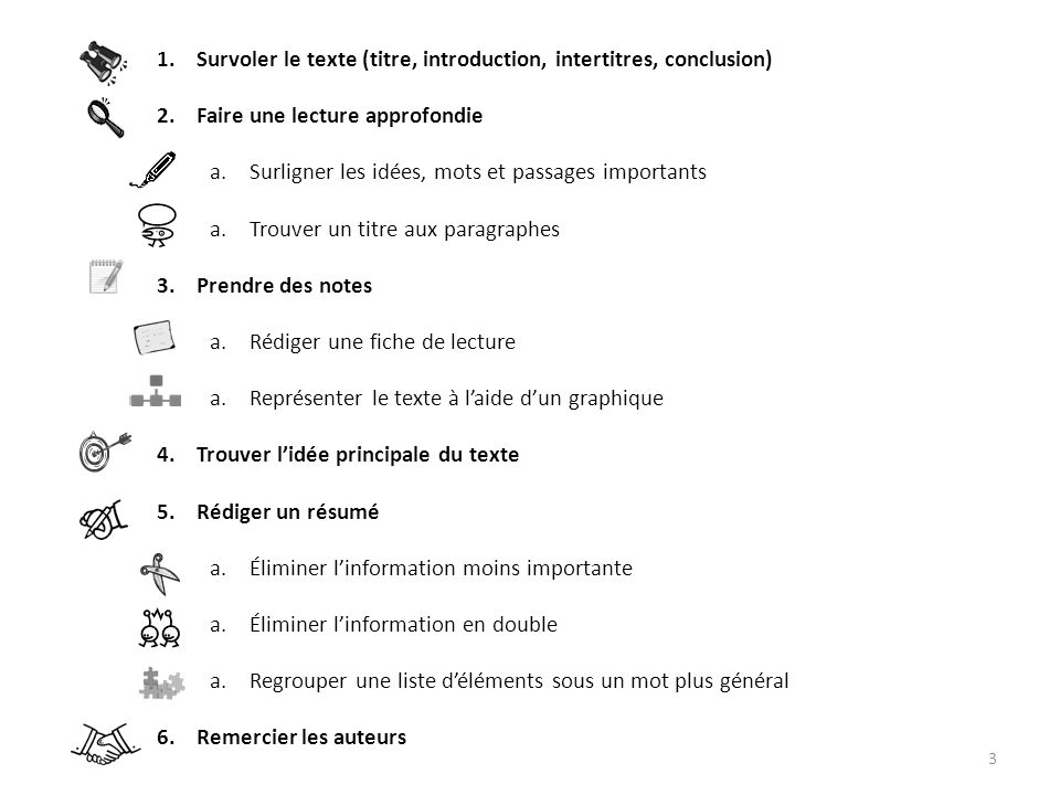 Survoler le texte (titre, introduction, intertitres, conclusion)