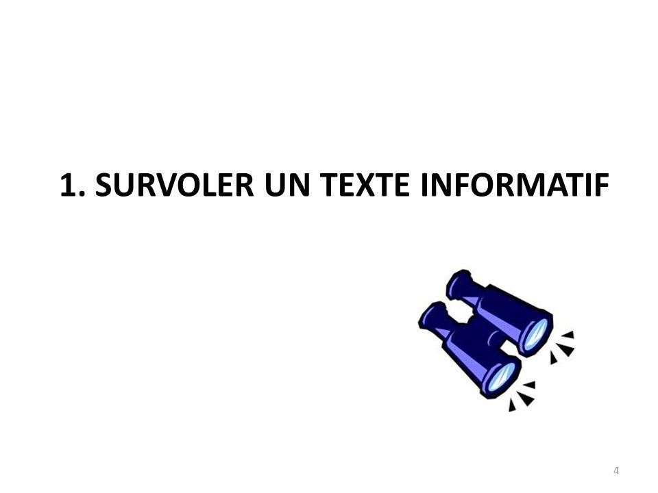 1. Survoler un texte informatif