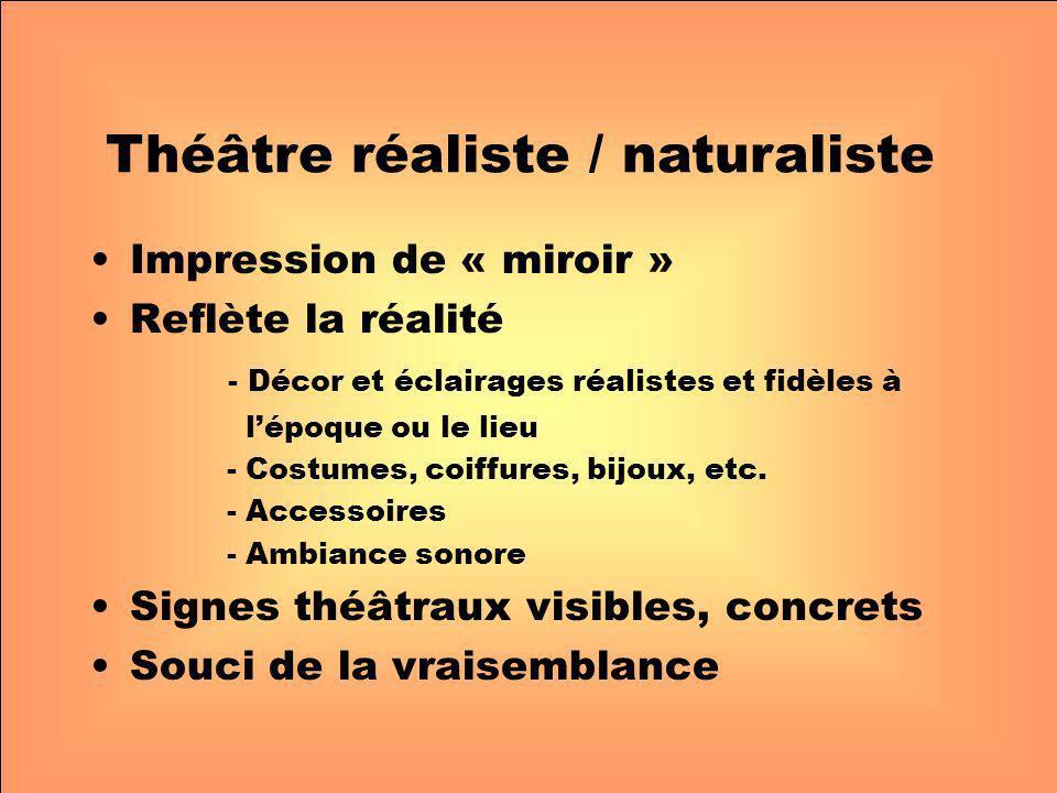 Théâtre réaliste / naturaliste