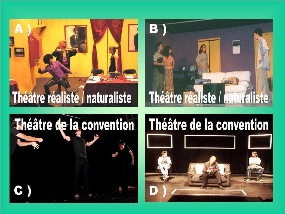 Théâtre réaliste / naturaliste Théâtre réaliste / naturaliste