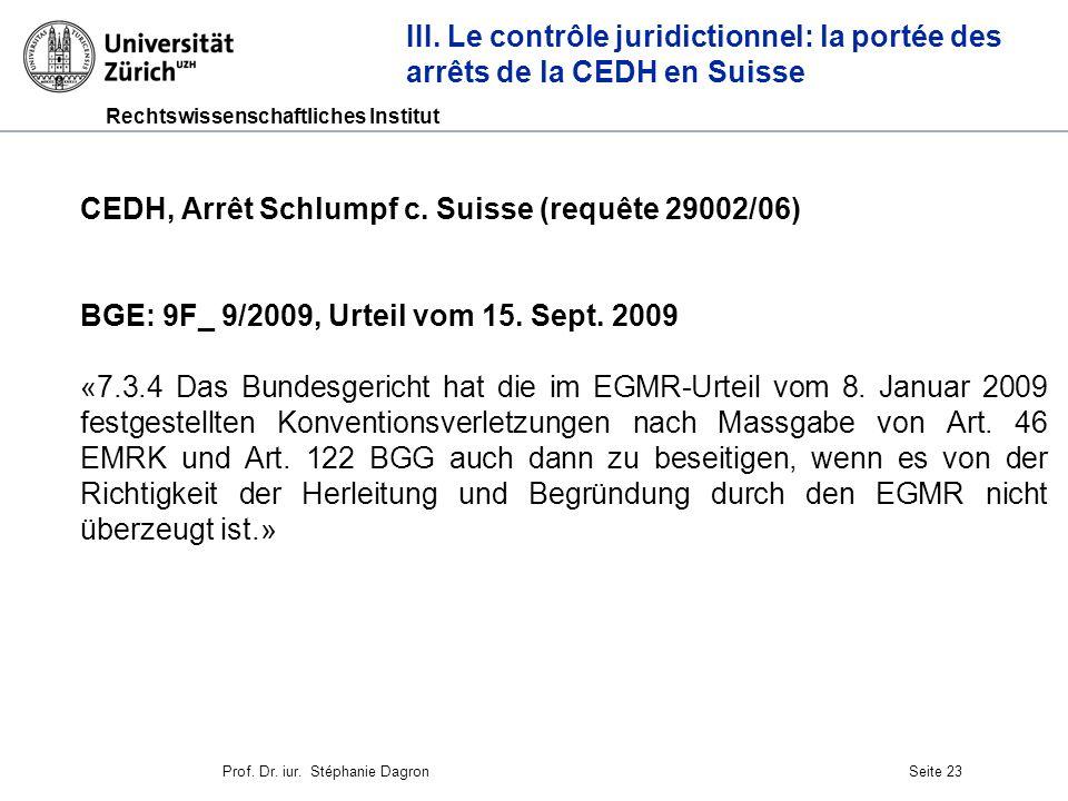 CEDH, Arrêt Schlumpf c. Suisse (requête 29002/06)