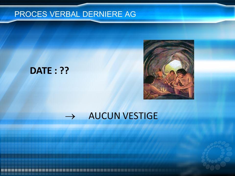 PROCES VERBAL DERNIERE AG
