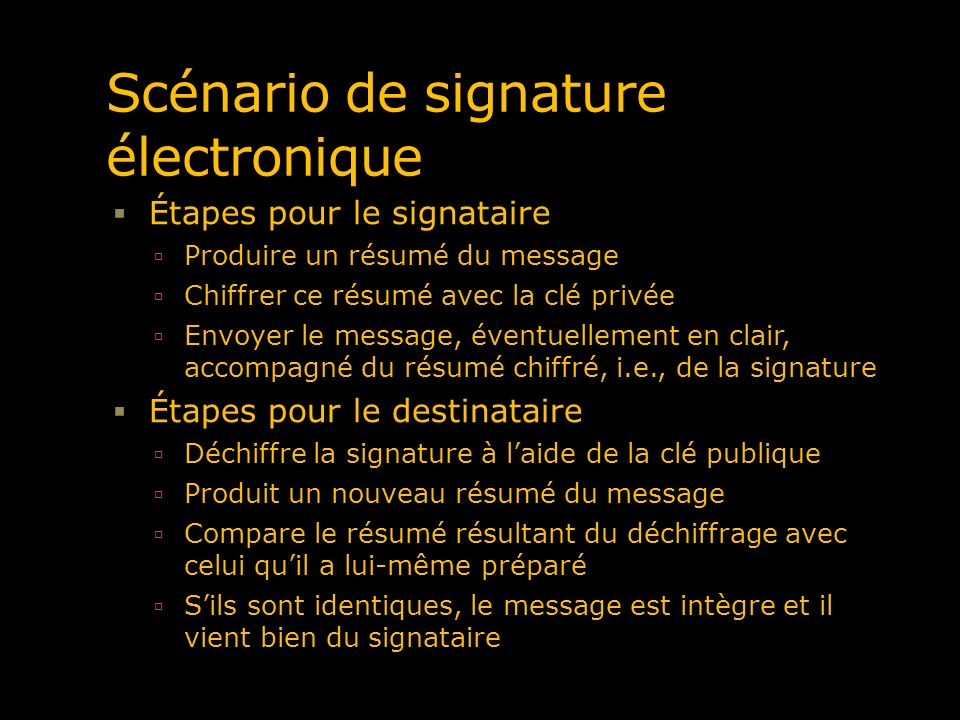 Scénario de signature électronique