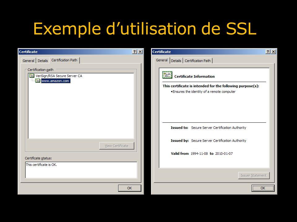 Exemple d'utilisation de SSL