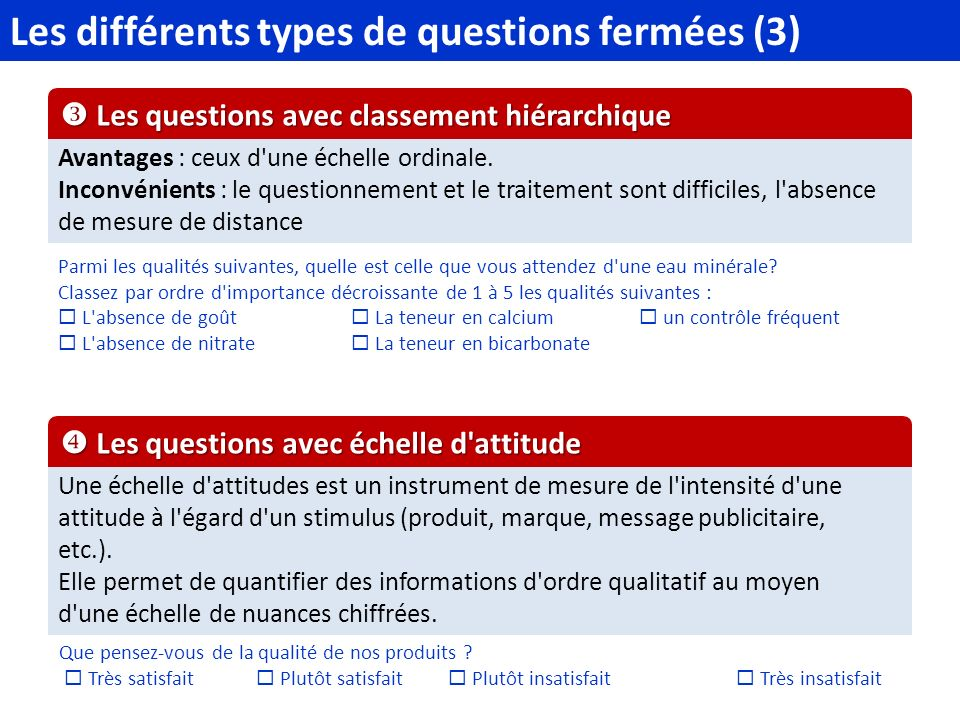 Les différents types de questions fermées (3)