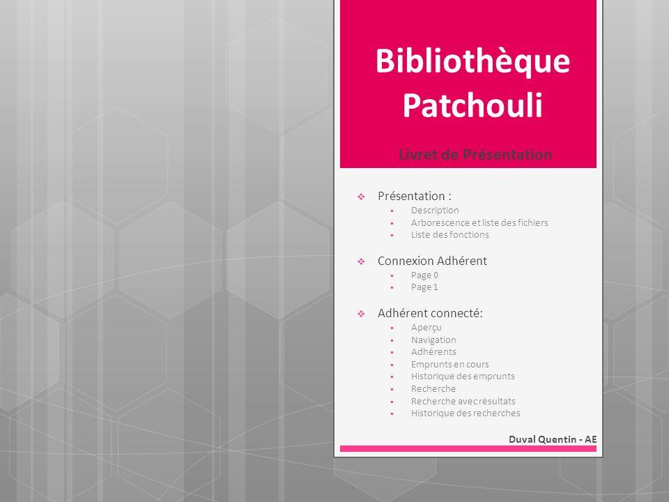 Bibliothèque Patchouli