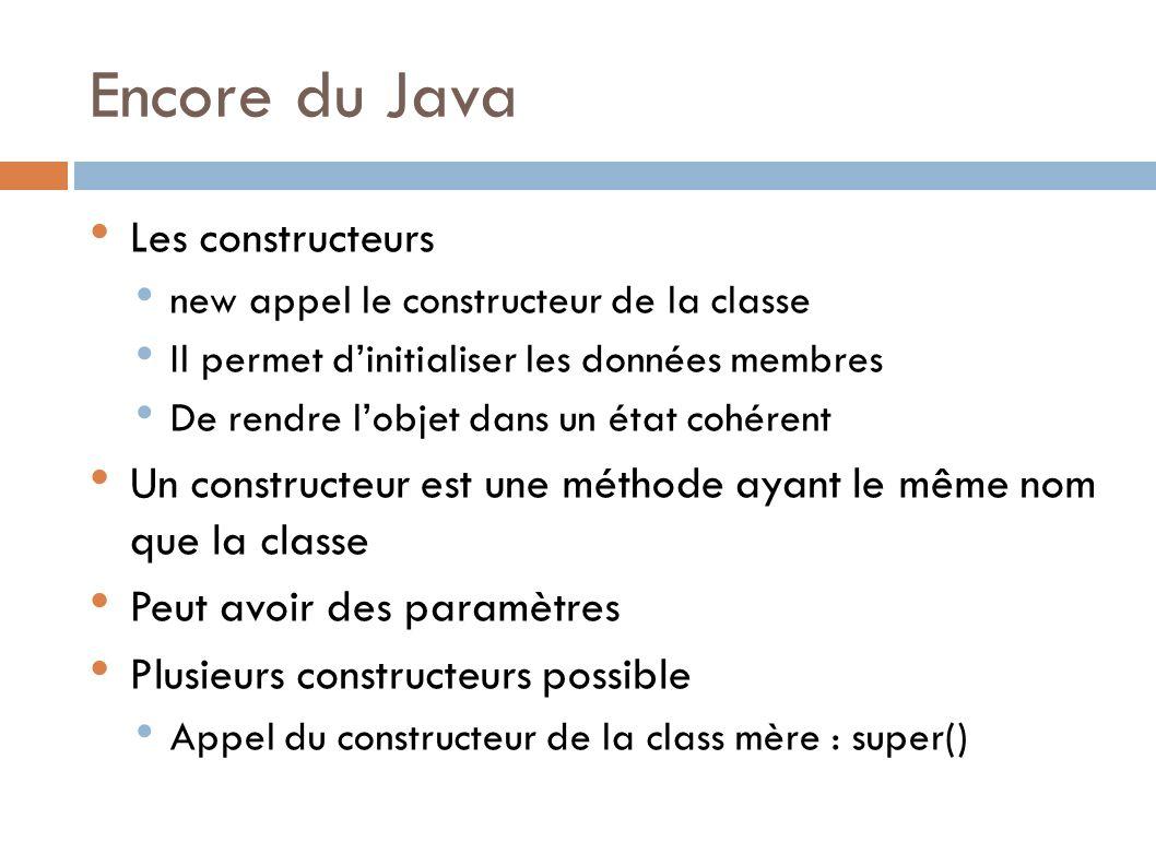 Encore du Java Les constructeurs