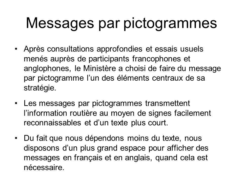 Messages par pictogrammes