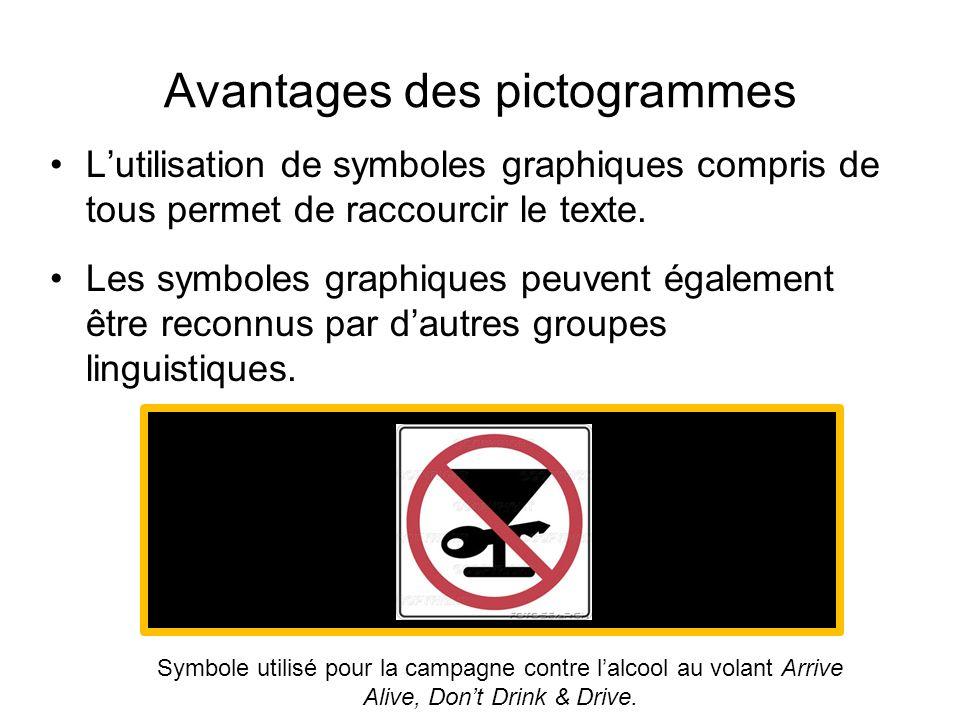 Avantages des pictogrammes