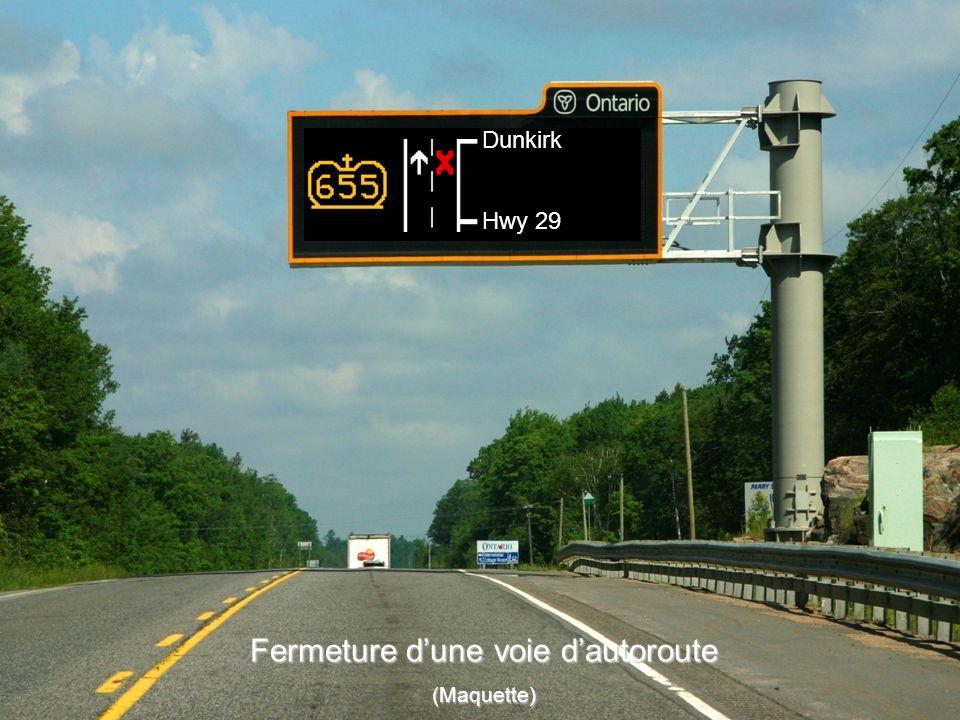 Fermeture d'une voie d'autoroute
