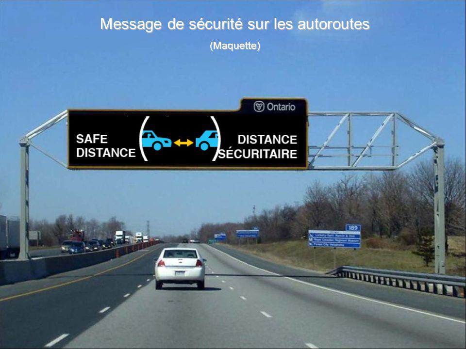 Message de sécurité sur les autoroutes