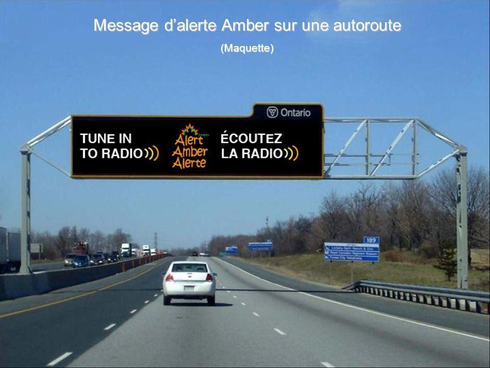 Message d'alerte Amber sur une autoroute