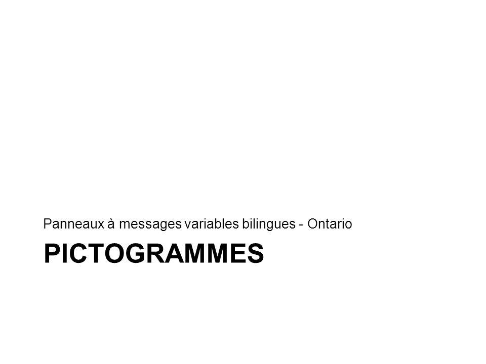 Panneaux à messages variables bilingues - Ontario